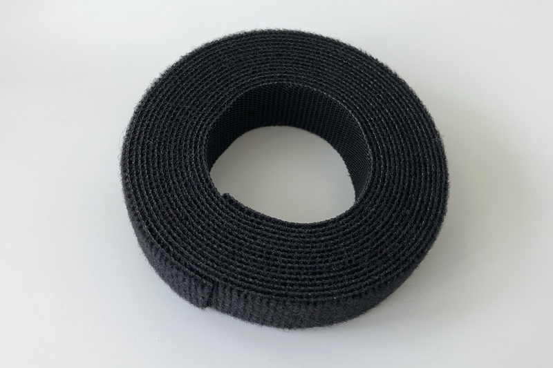 A roll of black Velcro